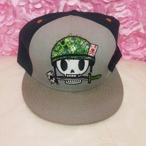 Tokidoki skull head cap